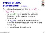 types of 3ac statements contd41