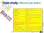 case study marcia lee jeans