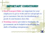 important conditions3