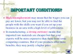 important conditions4