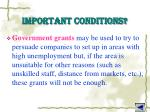 important conditions5