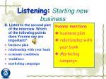 listening starting new business1