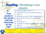 reading developing a new industry3