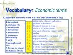 vocabulary economic terms