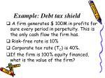 example debt tax shield