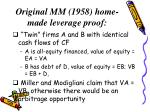 original mm 1958 home made leverage proof