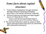 some facts about capital structure