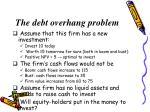 the debt overhang problem