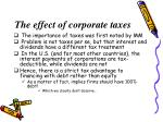 the effect of corporate taxes