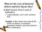 what are the costs of financial distress and how big are they