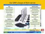 our erp s scope of work can be