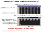 multimedia packet differentiation cont d