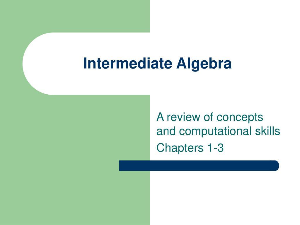 intermediate algebra l.