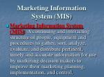 marketing information system mis