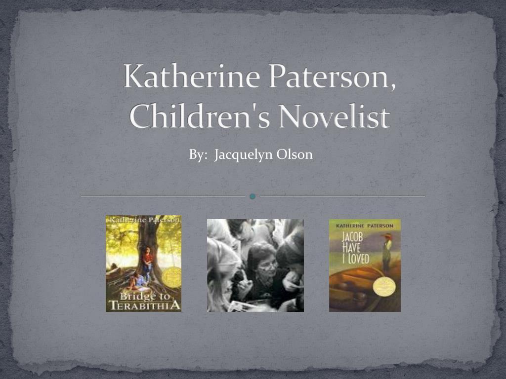 katherine paterson children s novelist l.
