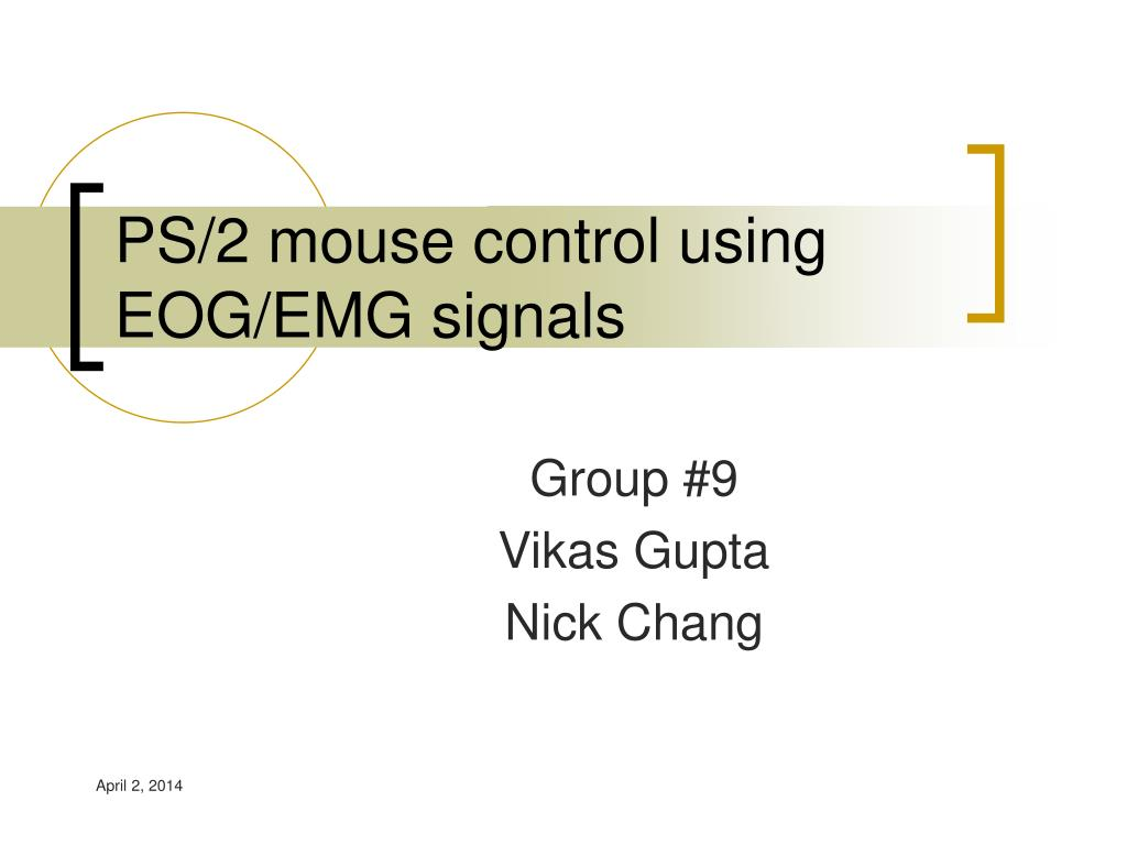 ps 2 mouse control using eog emg signals l.