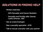 solutions in finding help
