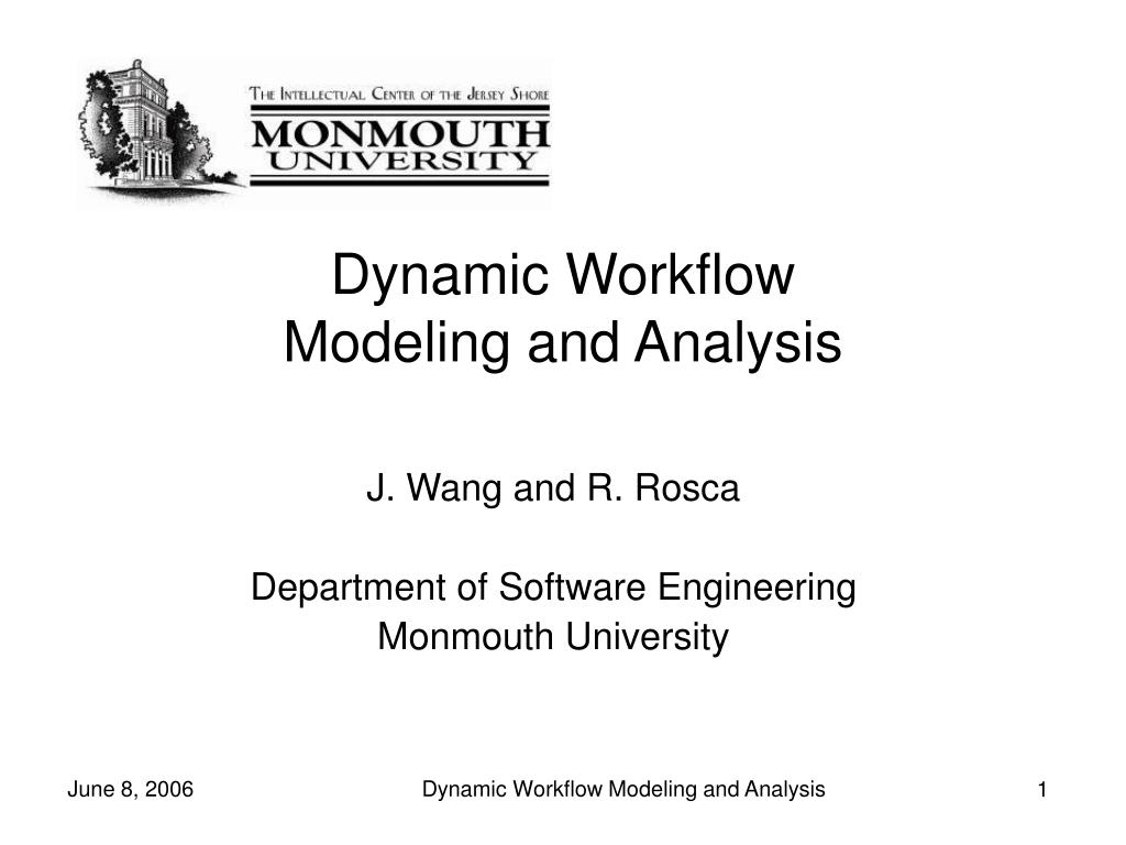 dynamic workflow modeling and analysis l.
