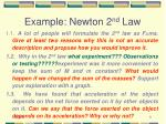 example newton 2 nd law