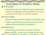 examples of student ideas