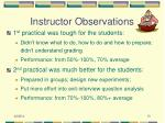 instructor observations