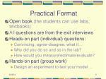 practical format