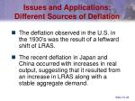 issues and applications different sources of deflation