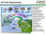 fcs user requirements