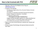 how to get involved with fcs