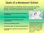 goals of a montessori school