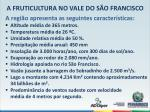 a fruticultura no vale do s o francisco