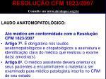 resolu o cfm 1823 2007 consulte em www abralapac org br1