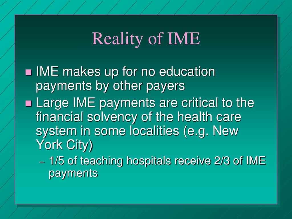 PPT - Medicare & Medicaid GME Payments to Hospitals Brief