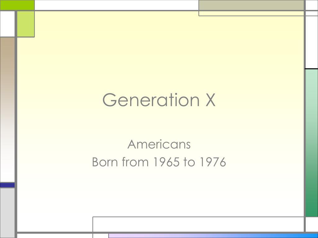 generation x l.