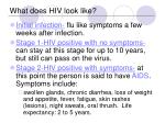 what does hiv look like