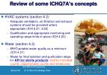 review of some ichq7a s concepts29