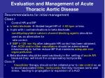 evaluation and management of acute thoracic aortic disease15