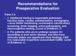 recommendations for preoperative evaluation35