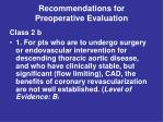 recommendations for preoperative evaluation36