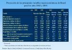 proyecci n de las principales variables macroecon micas de brasil para los a os 2002 y 2003