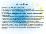 action line 1