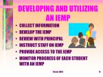 developing and utilizing an iemp
