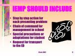 iemp should include