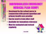 individualized emergency medical plan iemp
