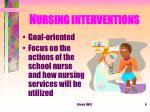 n ursing interventions