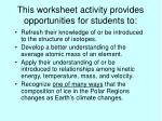 this worksheet activity provides opportunities for students to