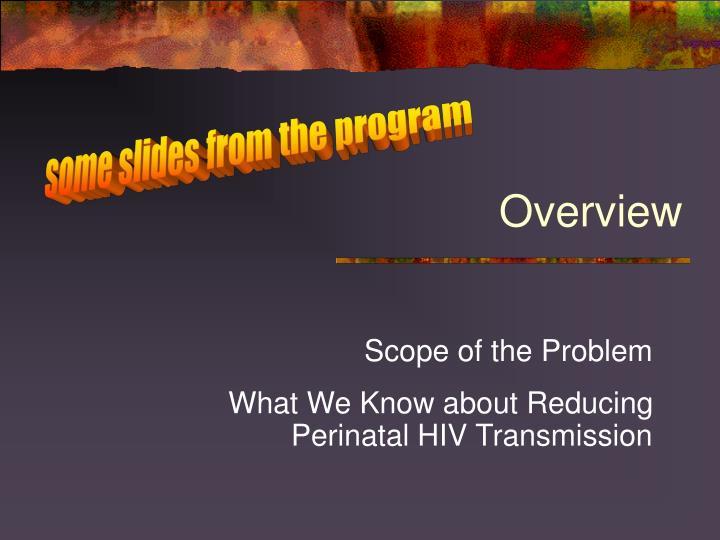 some slides from the program