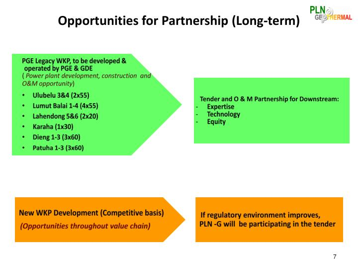 Opportunities for Partnership (Long-term)