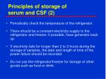 principles of storage of serum and csf 2