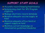 support staff goals